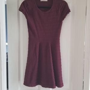 Cute Burgundy Flare dress